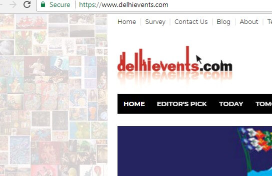 DelhiEvents Secure Site