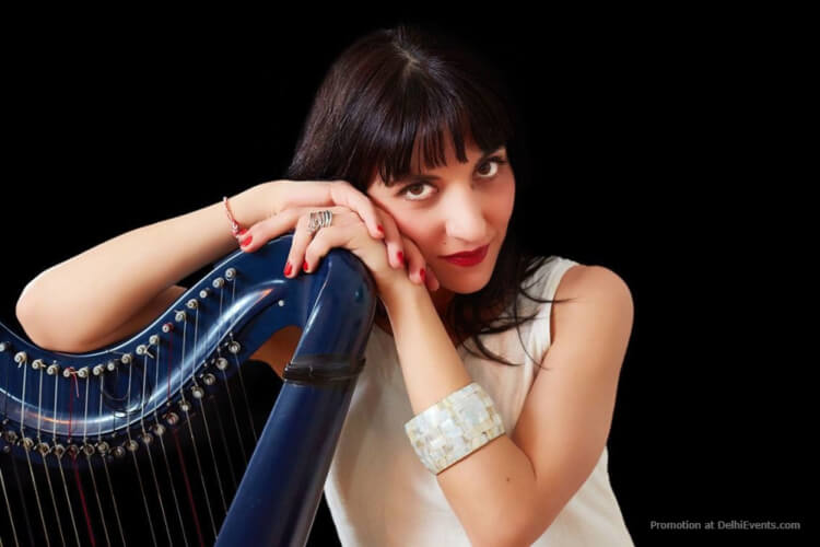 Clio K french greek harp player