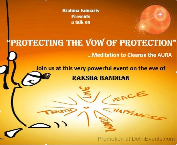 Brahma Kumaris Protecting Vow Protection Raksha Bandhan Meditation Workshop Creative