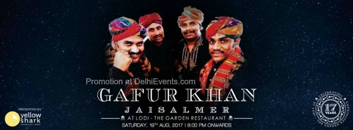 Gafur Khan Jaisalmer Lodi Garden Restaurant Creative