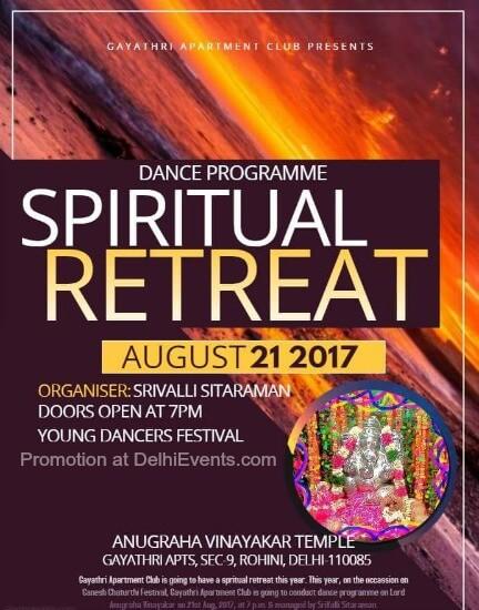 Spiritual Retreat 2017 Classical Dance Ganesh Chaturthi Festival Gayathri Apartment Club Creative