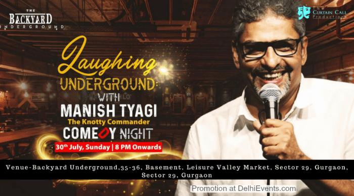 Comic Act Manish Tyagi Backyard Underground Creative