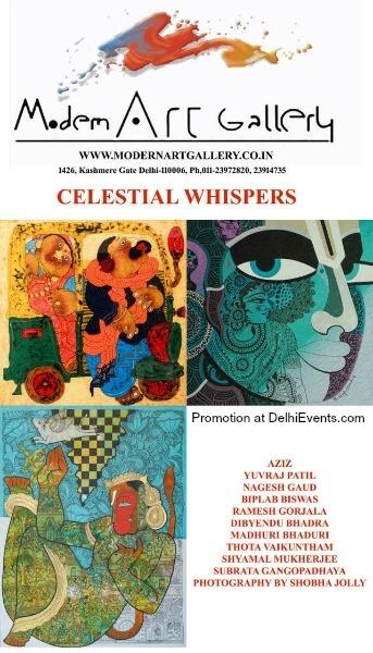 Modern Art Gallery Celestial Wispers group show Creative