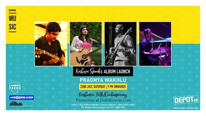 Pragnya waklu Album launch Kahwa Speaks Depot48 Creative