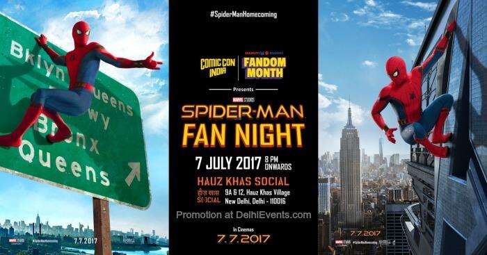 Comic Con India Spider Man Fan Night Hauz Khas Social Creative