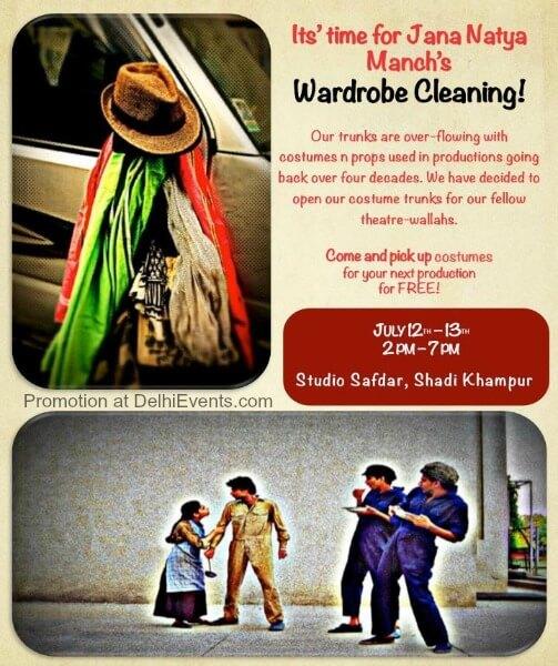 Wardrobe Cleaning Jana Natya Manch Studio Safdar Theatre Exhibition Creative
