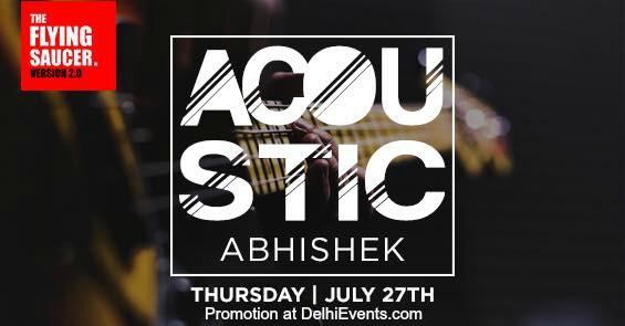Acoustic Session Abhishek Flying Saucer Cafe Creative