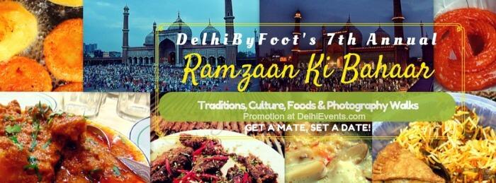 DelhiByFoot Shaam-e-Iftaar Walk Creative