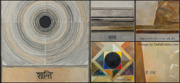 Gandhi paintings Syed Haider Raza