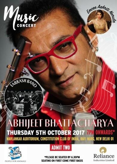 People Animals PFA Concert Abhijeet Bhattacharya Tarkash Band Creative