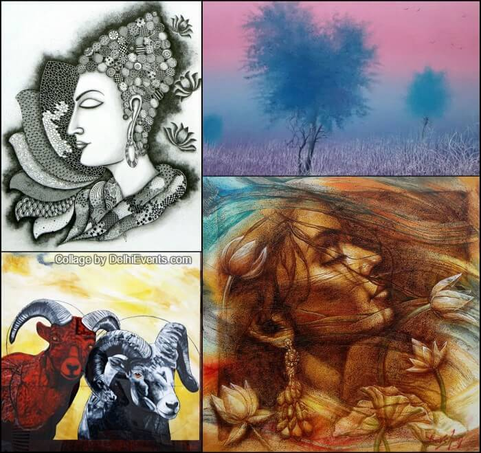 NDMC Diwali ARTMART group art show Artworks