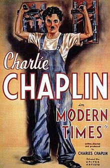 Modern Times Charlie Chaplin Movie Poster