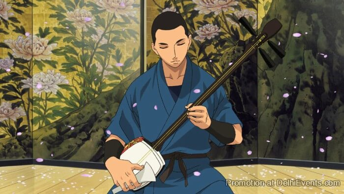 Nitaboh Founder Shamisen Japanese Animation film Still