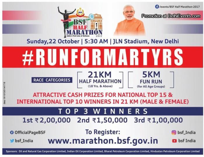 BSF Half Marathon Jawaharlal Nehru Stadium Creative