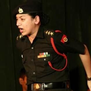 Sukhmanch Theatre Court Martial Hindi Play Still