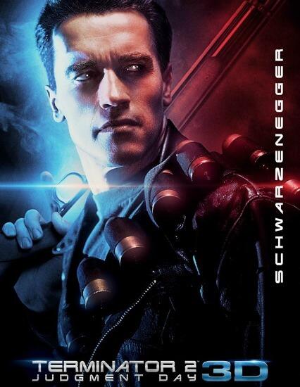 Terminator 2 Judgment Day 3D Sci-Fi in English Arnold Schwarzenegger Poster