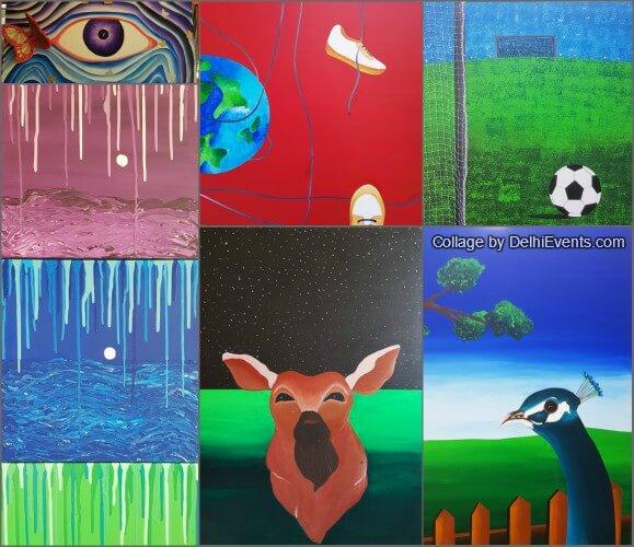 Age No Bar V group show artworks students Joyattam Roy
