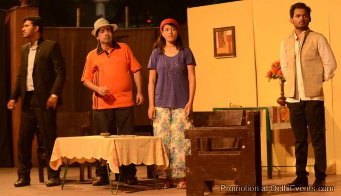 Saksham Theatre Black Comedy Hinglish Play Still