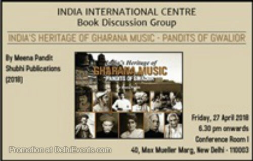 India Heritage Gharana Music Pandits Gwalior Meeta Pandit India International Centre Creative