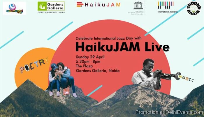 International Jazz Day HaikuJAM Gardens Galleria Mall Creative
