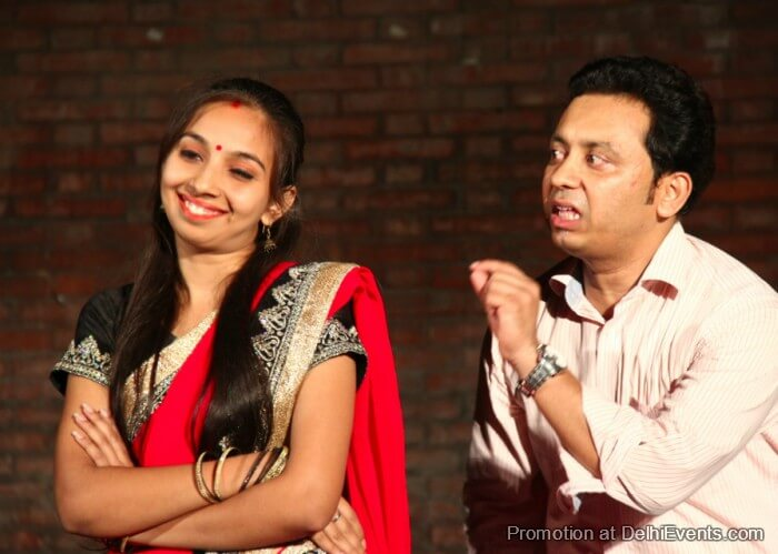 Saksham Theatre Miyan Biwi Aur Manto Hindi Comedy Play Still