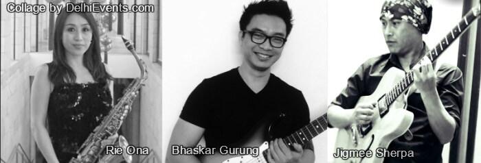Musicians Fast Trio Rie Ona Bhaskar Gurung Jigmee Sherpa