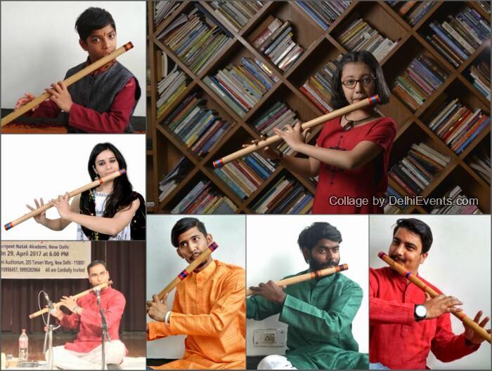 Neelanchal Trust flute disciples Guru Raj Kishore Dalbehera