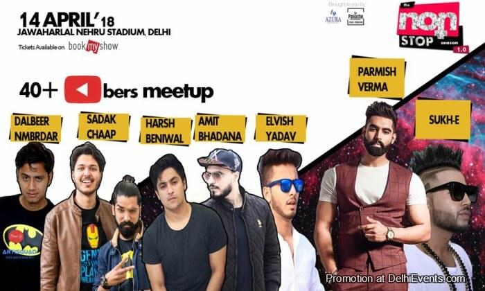 NonStop meetup YouTubers Jawaharlal Nehru Stadium Creative