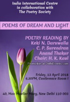 POETRY Reading Poems Dream Light India International Centre Creative