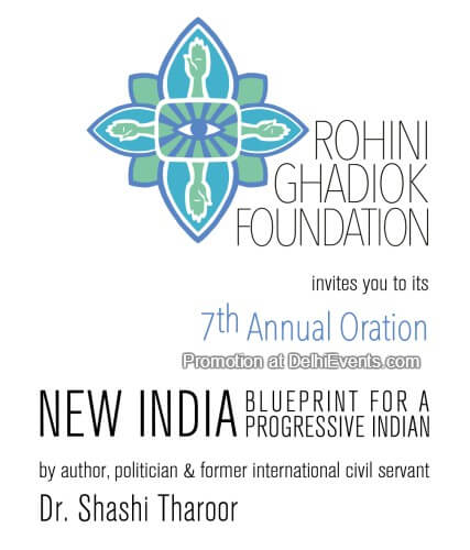 Rohini Ghadiok Foundation New India Blueprint Progressive Indian Dr. Shashi Tharoor Creative