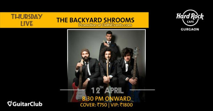 Background Shrooms Hard Rock Cafe Gurugram Creative