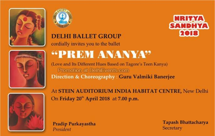 Delhi Ballet Group Prem Ananya India Habitat Centre Creative