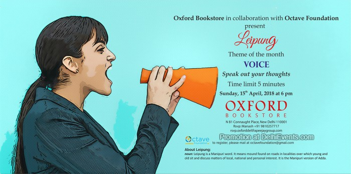 Leipung Open Mic 16 Octave Foundation Oxford Bookstore Creative