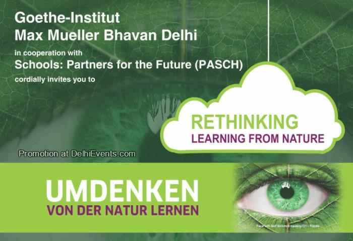 Umdenken von der Natur lernen Rethinking learning nature interactive exhibition Goethe Institut Creative