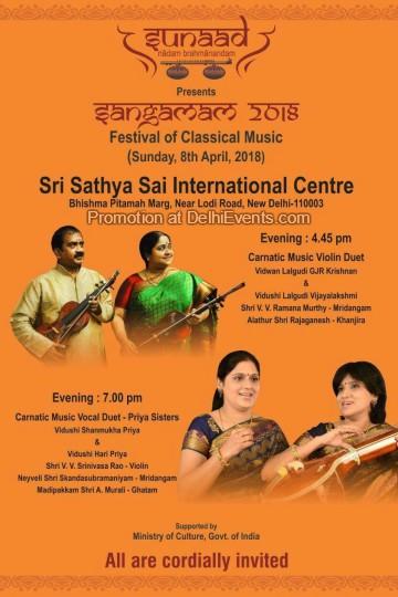 Sangamam 2018 festival classical music Sathya Sai Centre Creative