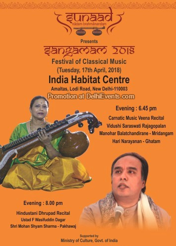 Sangamam 2018 SUNAAD Festival Classical Music India Habitat Centre Creative