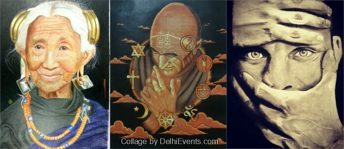 Sanchayan Group show artworks Differently Abled Artists Uchaan Art Gallery Artworks