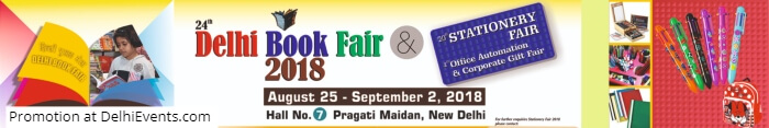 24th Delhi Book Fair 2018 Pragati Maidan Creative