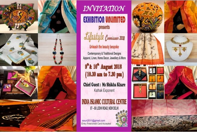 Exhibition Unlimited presents Lifestyle Connoisseur 2018 India Islamic Cultural Centre Creative