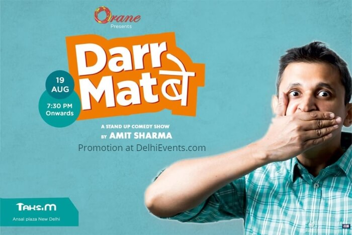 Orane Darr Mat Be Hinglish stand-up Amit Sharma Taksim Creative
