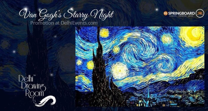Van Gogh Starry Night Painting Party Delhi Drawing Room 91Springboard Creative