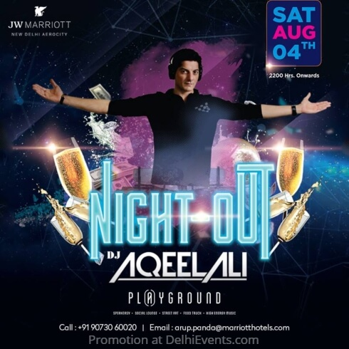Night Out DJ Aqeel Playground JW Marriott Hotel Creative