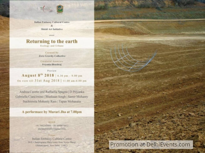 Returning Earth Ecology Urbane group show Italian Centre Exhibition Creative