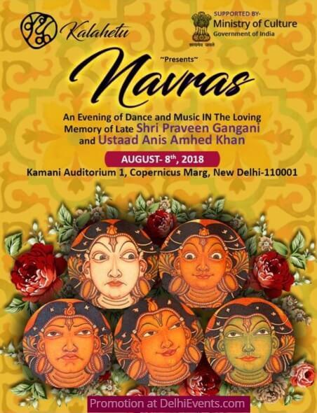 Navaras memory Shri Praveen Gangani Ustad Anees Ahmed Khan Kamani Auditorium Creative