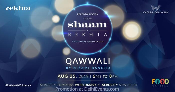 Shaam Rekhta Qawwali Worldmark1 Aerocity Creative