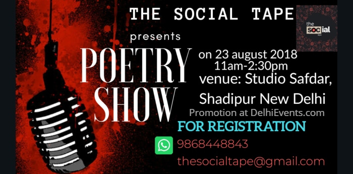 Social Tape Poetry Show Studio Safdar Creative