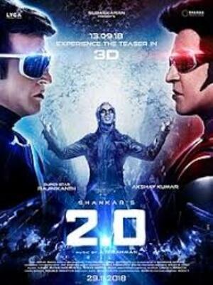 2.0 Sci-Fi Rajinikanth Akshay Kumar Poster