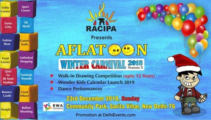 RACIPA Aflatoon Winter carnival 2018 Sarita Vihar Creative
