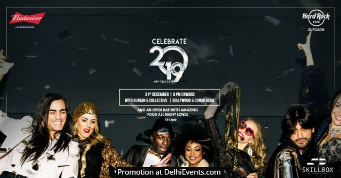 Celebrate NYE 2019 Hard Rock style Gunjan Collective Creative