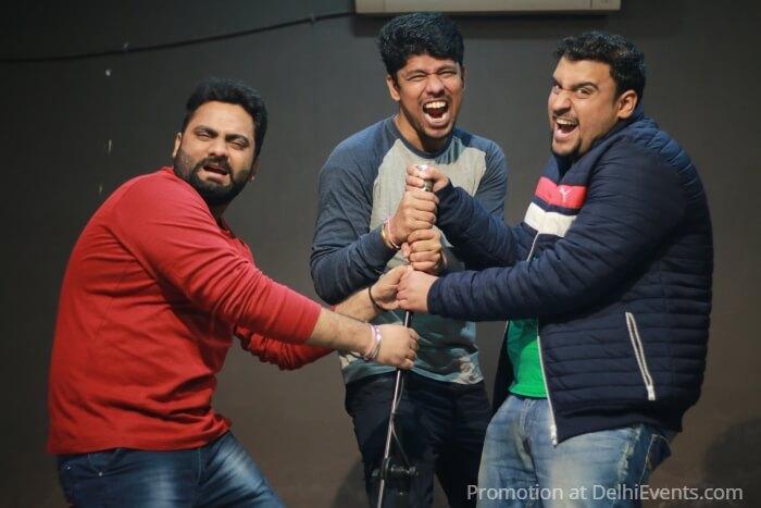 Comedians Gourav Mahna Ravi Khurana Inder Sahani